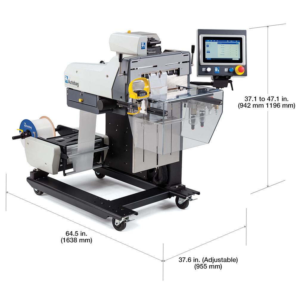 Autobag 550 Bagging Systems with dimensions